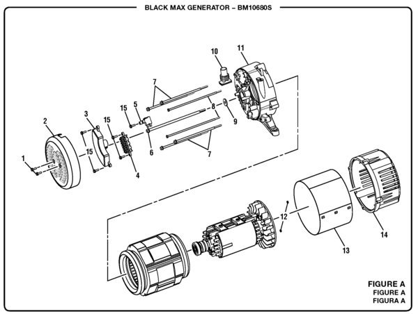 Blackmax Bm10680s 6800 Watt Generator Parts And Accessories Rhpartswarehouse: Black Max Generator Wiring Diagram At Gmaili.net