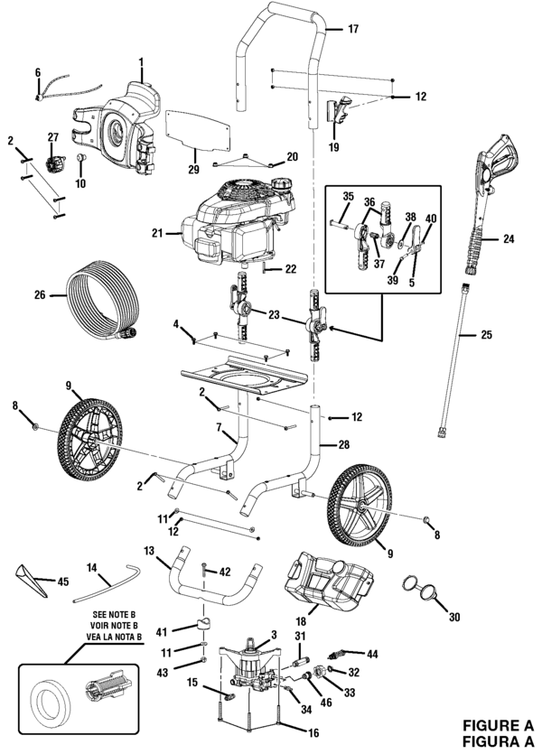 honda power washer parts diagram
