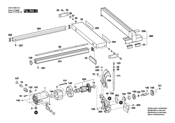 Bosch Parts 2610015040 Fixing Plate for Elevation