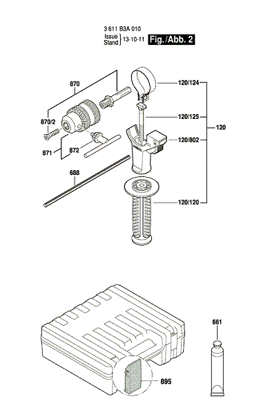 Bosch Parts 1612026126 Lever