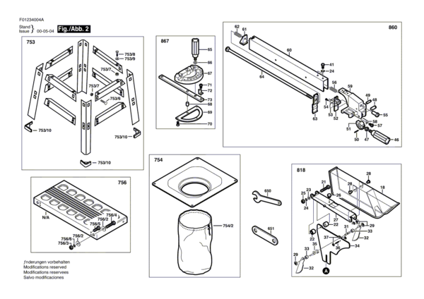 skill table saw parts