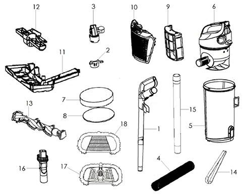 Dirt Devil Ud20125b Parts And Accessories Partswarehouse