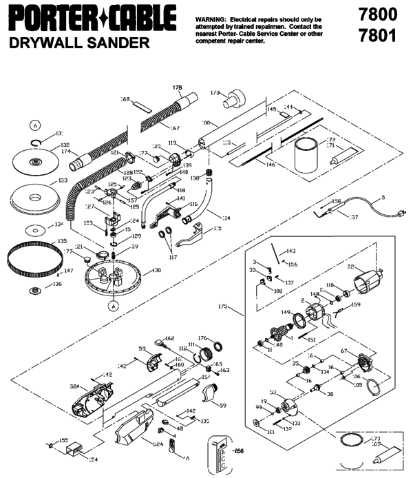 Porter Cable Parts Diagram