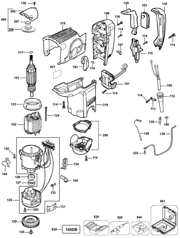 2 Rotary Hammer Type 3 Parts And Accessories