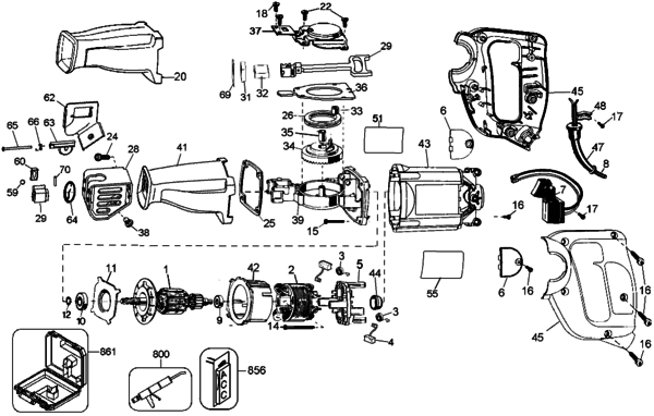 Sensational Sawzall Parts Diagram Together With De Walt Reciprocating Saw Parts Wiring Cloud Hisonuggs Outletorg