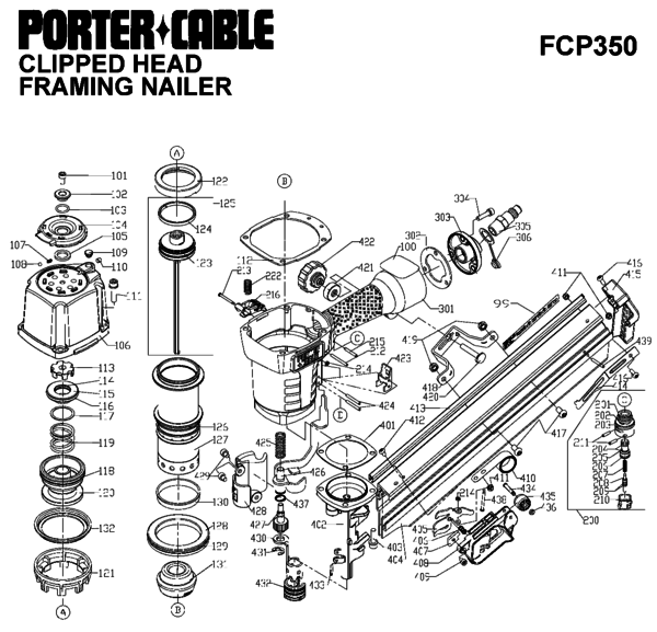 Porter Cable FCP350 Nailers Parts| PartsWarehouse