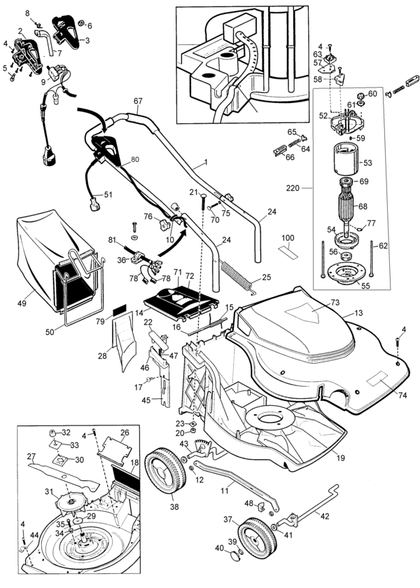 Black And Decker Electric Lawn Mower Mm850 Wiring Diagram