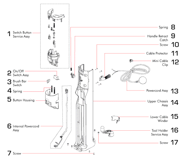 Request To Exit On Diagram additionally General Electric Canister Vacuum moreover 545 also S 1587 U6425 900 likewise 5947. on eureka vacuum wiring diagram