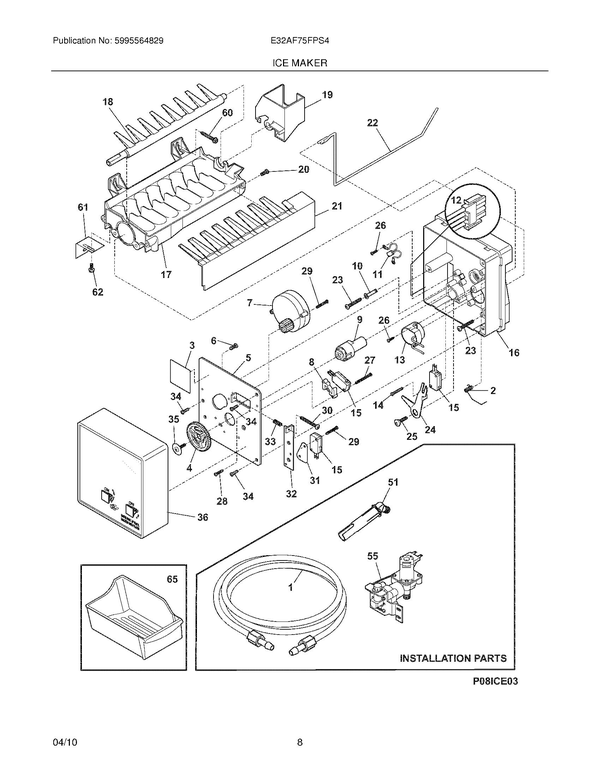 Electrolux E32af75fps4 Freezer Parts And Accessories At Partswarehouse