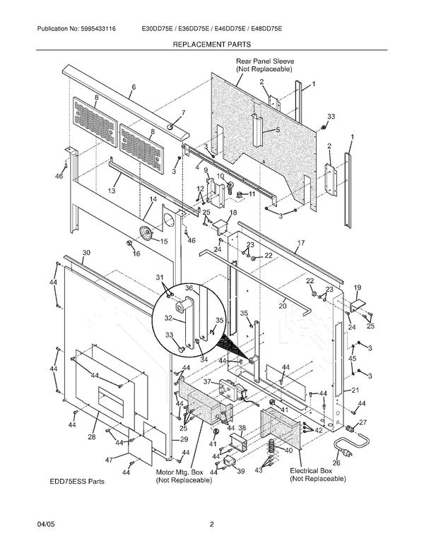 electrolux e36dd75ess vent hood parts and accessories at partswarehouse Schematics Diagrams Electrolux Vacuum electrolux e36dd75ess