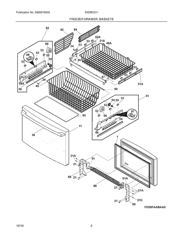 Electrolux EI23BC51IS2 Refrigerator Parts and Accessories at ... on electrolux double oven schematic, electrolux refrigerator fuse, microwave wiring schematic, electrolux refrigerator troubleshooting, electrolux vacuum parts diagram, electrolux refrigerator capacitors, electrolux wiring-diagram,
