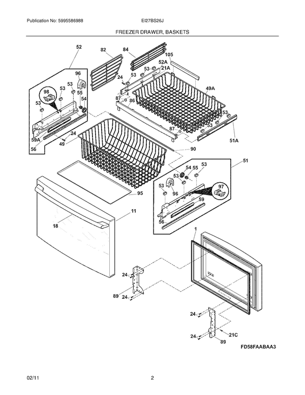 Electrolux Ei27bs26js3 Refrigerator Parts And Accessories At