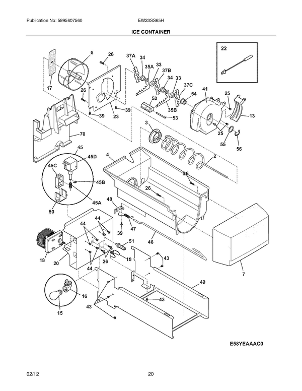 Electrolux Ew23ss65hb2 Refrigerator Parts And Accessories At