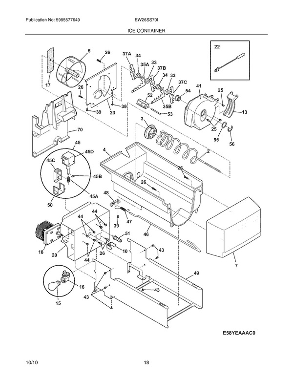 Electrolux Ew26ss70is3 Refrigerator Parts And Accessories At