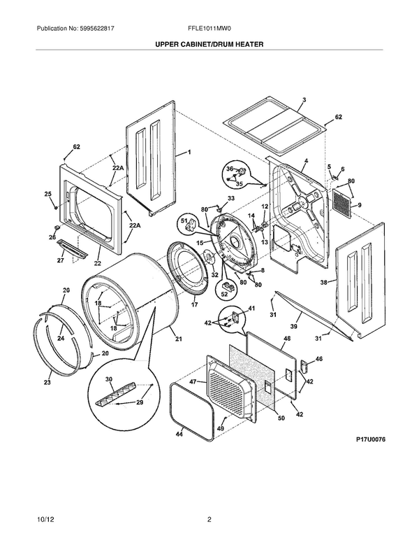 Electrolux Front Laundry Center W Gas Dryer Wiring Diagram Parts