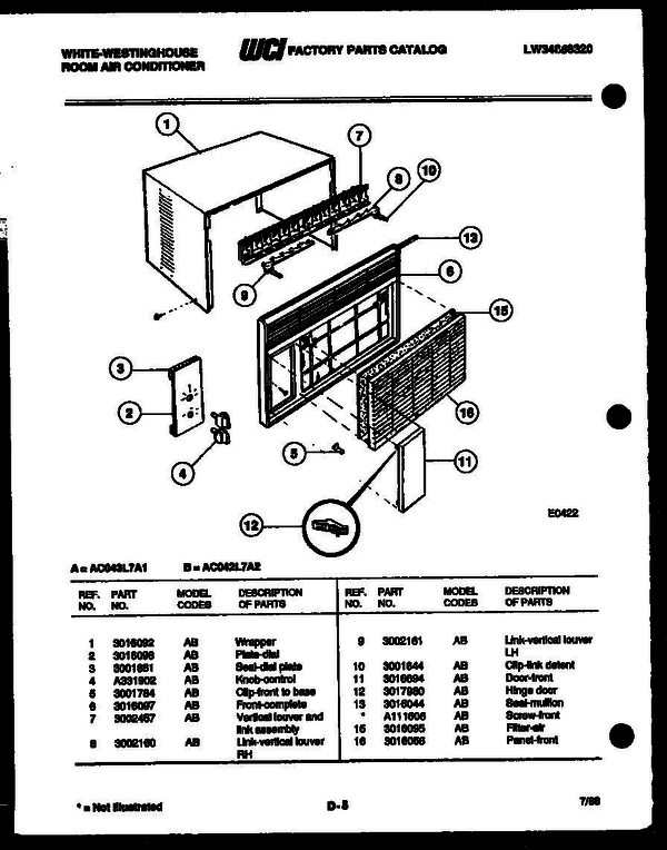 Westinghouse Air Conditioner Wiring Diagram on