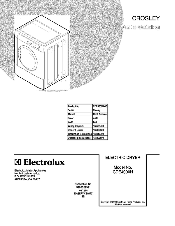 wiring diagram for crosley dryer frigidaire cde4000hw0 dryer parts and accessories at partswarehouse  frigidaire cde4000hw0 dryer parts and