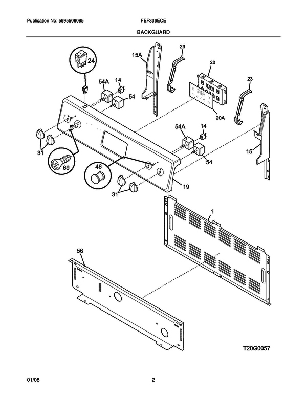 Frigidaire Fef336ece Freestanding Electric Range Parts And