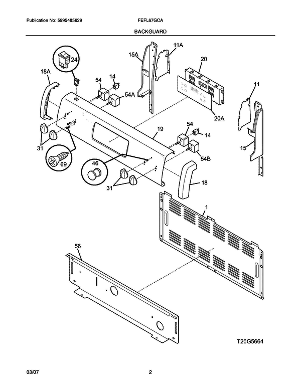 frigidaire fefl67gca freestanding electric range parts and accessories at partswarehouse