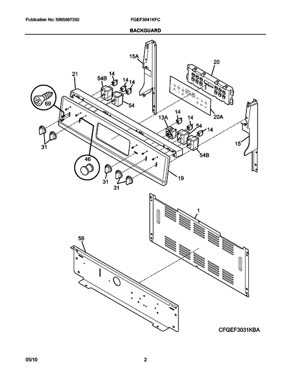 Frigidaire Fgef3041kfc Range Parts And Accessories At Partswarehouse