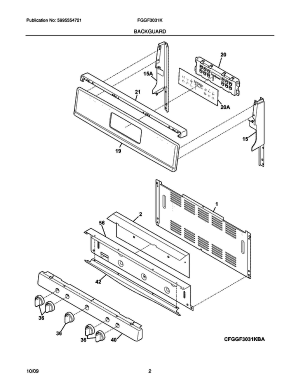 Frigidaire Fggf3031kbc Gas Range Parts And Accessories At Partswarehouse