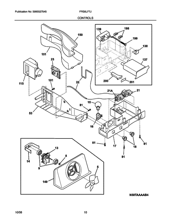 frigidaire frs6lf7js3 refrigerator parts and accessories