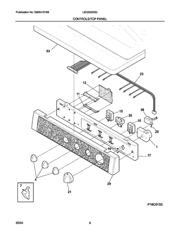 frigidaire leq332ds0 dryer parts and accessories at