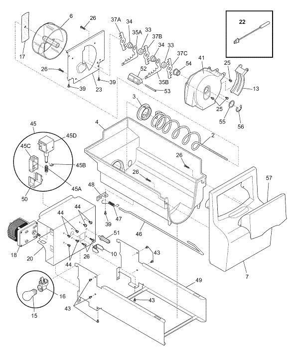 Frigidaire Lfus2613lf0 Refrigerator Parts And Accessories At