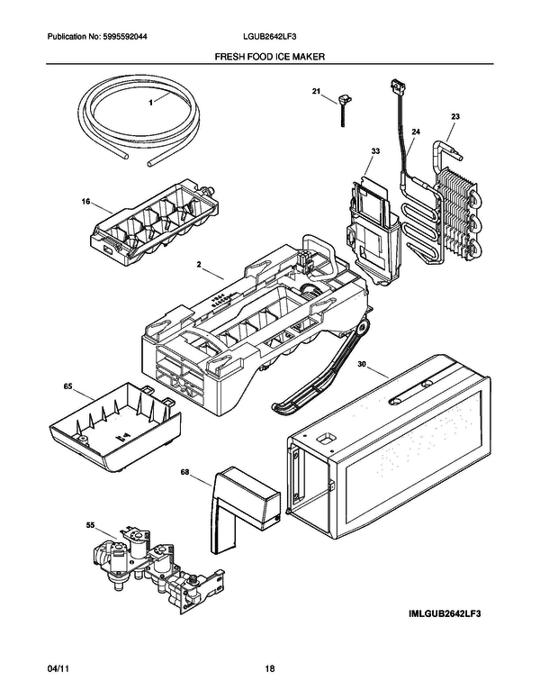Sophisticated Frigidaire Ice Maker Parts Diagram Pictures - Best ...
