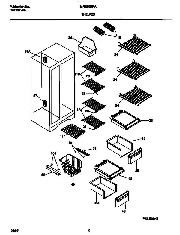 Kelvinator Mrs20hraw4 V2 Refrigerator Parts And Accessories At