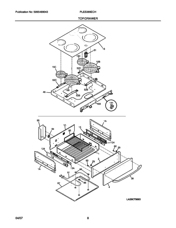 PLES389ECH 4 frigidaire ples389ech slide in electric range parts and Basic Electrical Wiring Diagrams at honlapkeszites.co