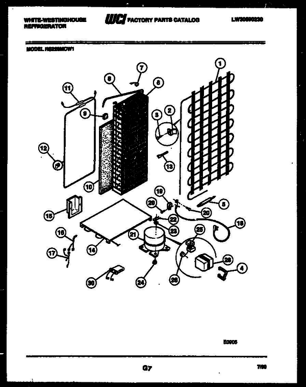 White-Westinghouse RS220MCD1 (V5) Side-by-Side Refrigerator Parts ...