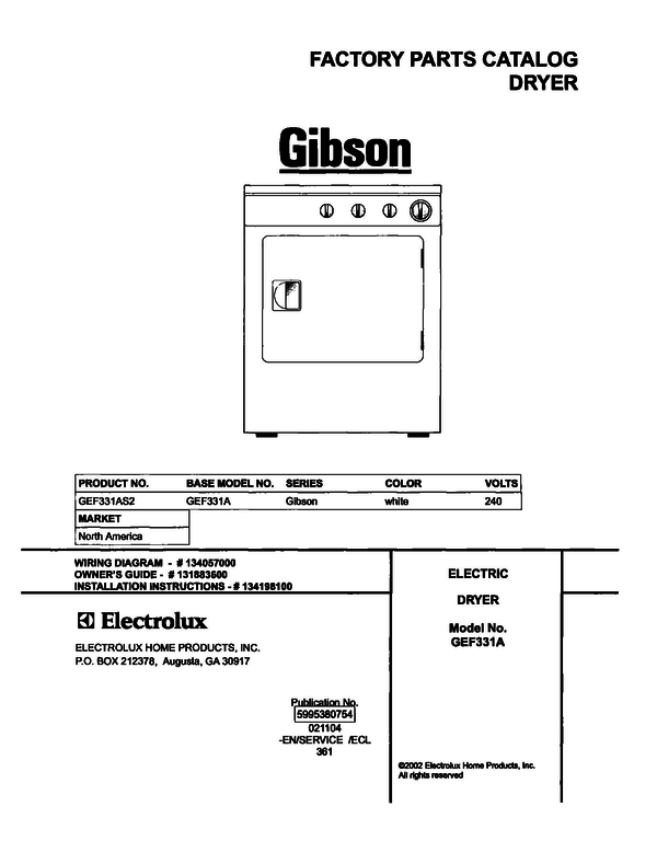 gibson gef331as2 dryer parts and accessories at partswarehouse rh partswarehouse com
