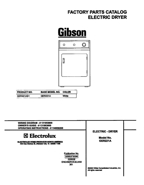 Incredible Gibson Ger221As1 Dryer Parts And Accessories At Partswarehouse Wiring 101 Ouplipimpapsstreekradiomeanderfmnl