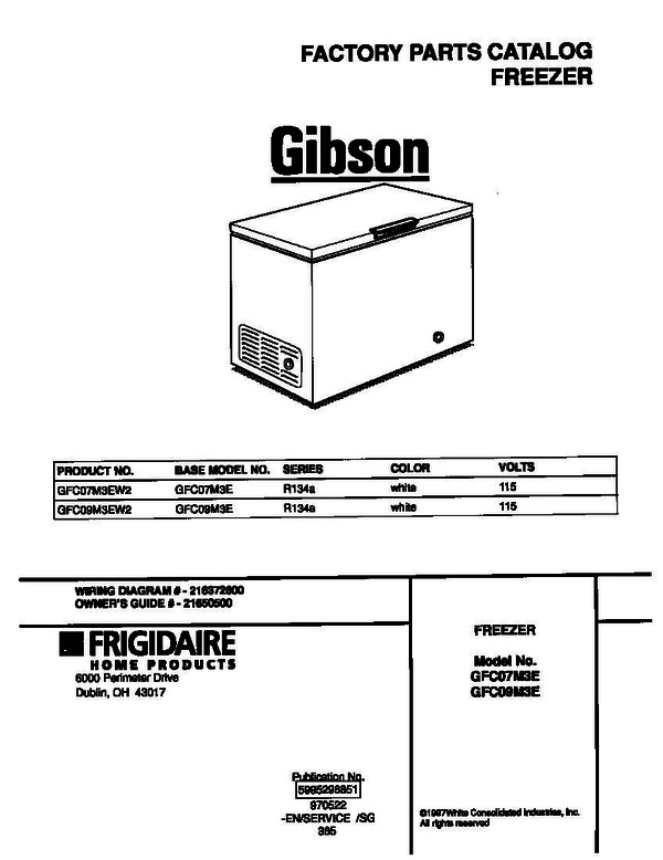 Gibson freezer wiring diagram wire center gibson gfc07m3ew2 chest freezer parts and accessories at partswarehouse rh partswarehouse com true t 49f wiring diagram refrigerator wiring diagram cheapraybanclubmaster Gallery