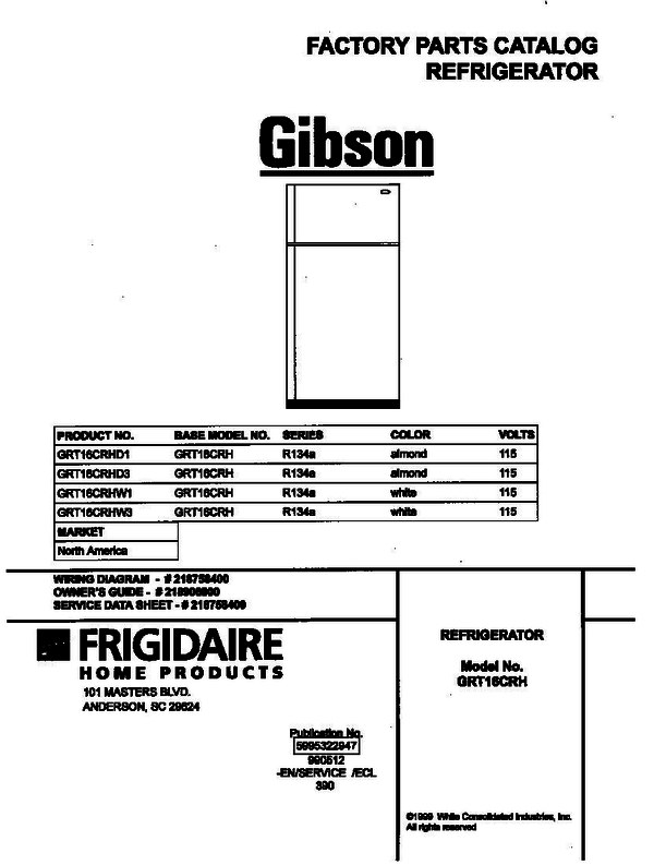 Gibson GRT16CRHD3 Refrigerator with Top Freezer (P5995322947
