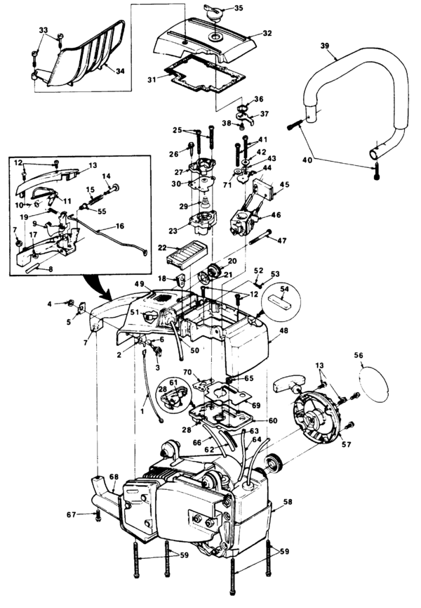homelite 330 chain saw ut 10575 parts and accessories partswarehouse rh partswarehouse com homelite 330 chainsaw repair manual Homelite Chainsaw Fuel Line Diagram