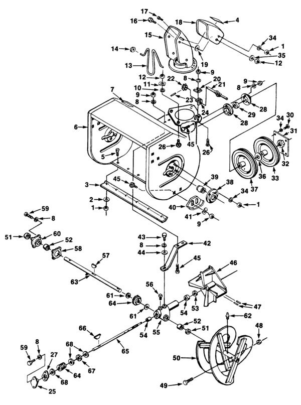 Jacobsen Snow Thrower Parts Diagram