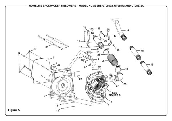 homelite backpacker ii blower ut 08572 a parts and accessories rh partswarehouse com