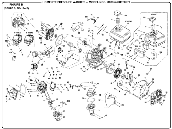 homelite ut80977 pressure washer parts and accessories