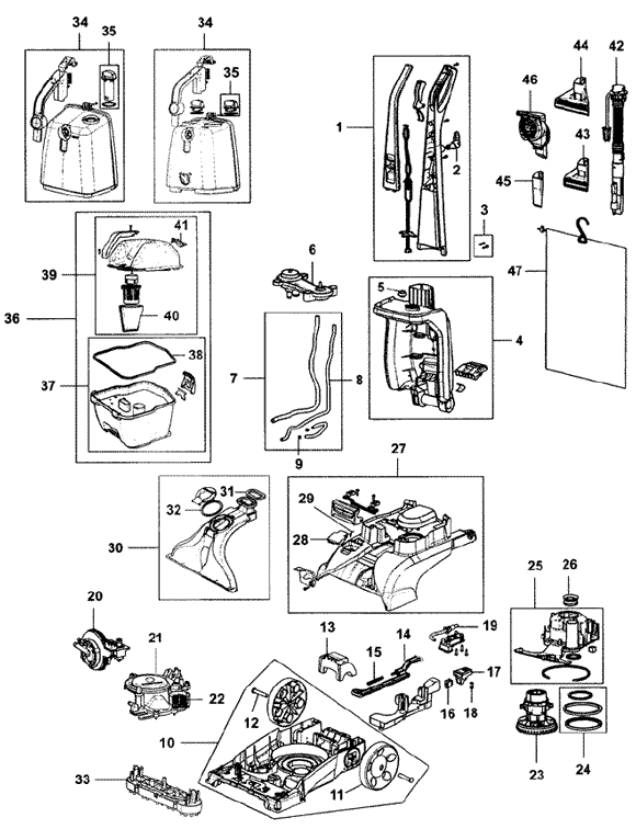 Dirt Devil Vacuum Parts Diagram Dirt Devil Ultra Corded Bagged
