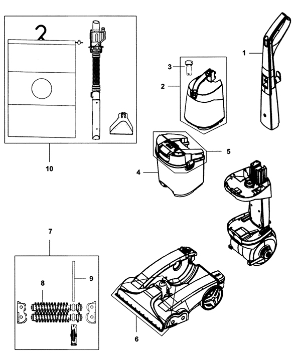 Hoover Carpet Cleaner Parts And Accessories Lets See