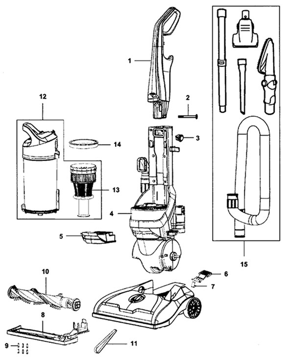 hoover uh71250 elite rewind upright parts and accessories