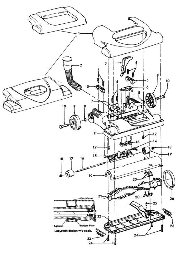 Hoover U5464 Parts And Accessories Partswarehouse