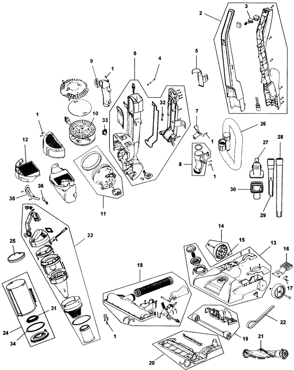 shark navigator vacuum parts diagram