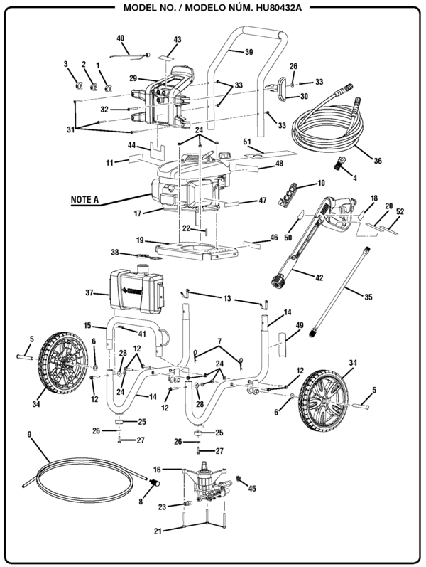 hotsy pressure washer wiring diagram husky hu80432a pressure washer parts and accessories ...