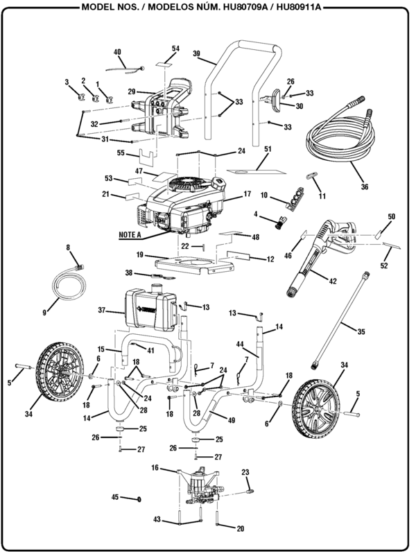 husky hu80709a pressure washer parts and accessories ... husky air compressor pressure switch wiring diagram #11