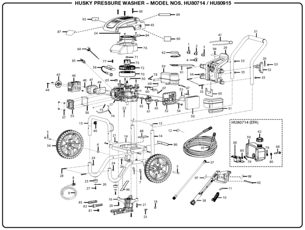 husky pressure washer pump diagram husky hu80714 pressure washer parts and accessories ... generac pressure washer wiring diagram #7