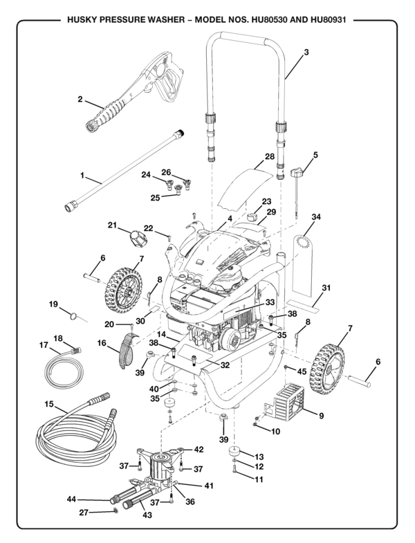 Husky Hu80931 Pressure Washer Parts And Accessories