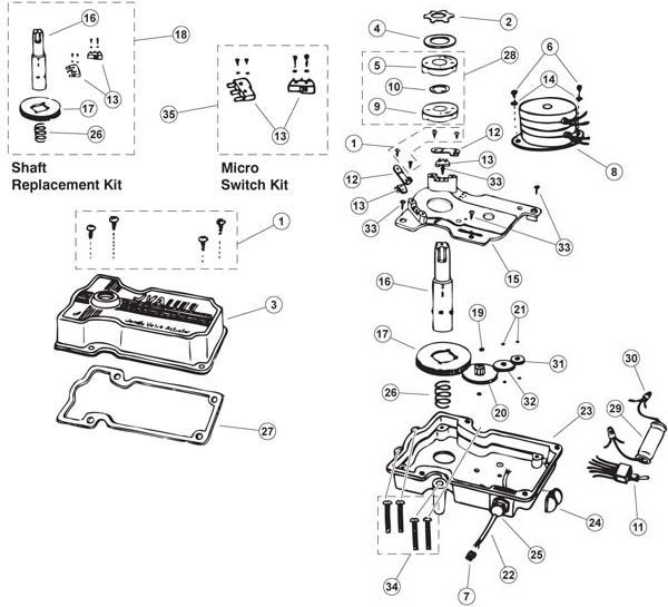 jandy by zodiac valve actuator parts and accessories